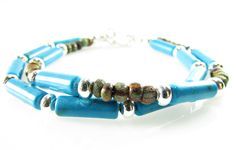 Boho Bracelets, Turquoise & Earthtone Delicate Bracelet Set, Stackable, Hot Trends, Signature Bracelet Set by TerriFayeJewelry on Etsy
