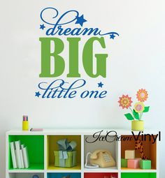 Dream Big Wall Decal Playroom Nursery Girls Boys by IceCreamVinyl, $18.00