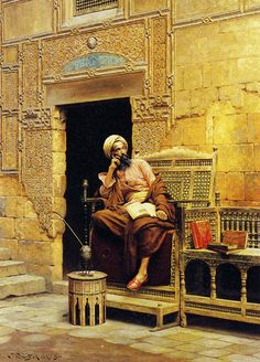 The Scribe (1904) by Ludwig Deutsch (Vienna, 1855 - Paris, 1935) Austrian born Orientalist painter who settled in Paris.