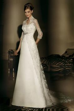 Unbelievable Wedding Dresses Vintage Long Ideas – wedding dresses – # Bridal Dresses Spaghetti Straps Wedding Dresses, Wedding Dress, Custom Made Wedding Gown, Exclusive: Louise Roe and Mackenzie Hunkin's Wedding Photos! Elegant Wedding Dress, Dream Wedding Dresses, Bridal Dresses, Wedding Gowns, Lace Dresses, Wedding Dress Collar, Wedding Shoes, Lace Wedding, High Collar Dress
