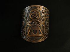 Alchemy Cuff  Etched Copper Cuff  Philosophers by JamieSpinello, $55.00