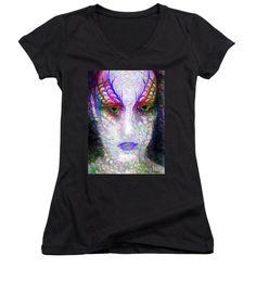 Women's V-Neck T-Shirt (Junior Cut) - Masquerade 9571