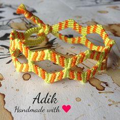 How to make a macrame double zig zag bracelet - Tutorial by Adik