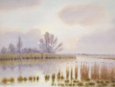 High Water River Waveney. Giclee and fine art print. £89.99 including free delivery.