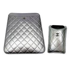 Metallic Chanel iPad & iPhone sleeves.