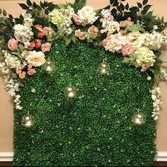 Wall decor for wedding Green Bridal Showers, Garden Baby Showers, Tea Party Bridal Shower, Garden Shower, Flower Wall Backdrop, Floral Backdrop, Wedding Wall Decorations, Bridal Shower Decorations, Wedding Backdrops