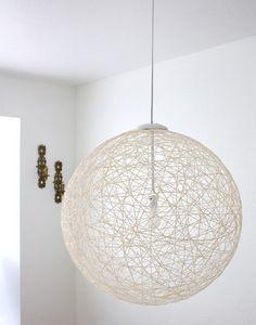 Stunning string pendant light DIY