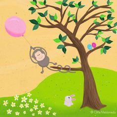 Gina Lorena Maldonado - Monkey With Baloon - GM