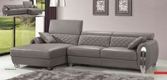 Advanced Adjustable Covered in All Leather Sectional with Pillows