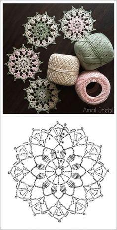 64 Mini Carpetas circulares en crochet (Patrones) Knitting TechniquesCrochet For BeginnersCrochet PatronesCrochet Stitches Crochet Snowflake Pattern, Crochet Doily Patterns, Crochet Snowflakes, Crochet Diagram, Crochet Chart, Crochet Squares, Thread Crochet, Crochet Doilies, Crochet Flowers
