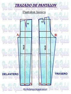 Blog de patronaje y diseño Pants Pattern, Learn To Sew, Sewing Clothes, Diy Fashion, Sewing Patterns, Sewing Ideas, Bar Chart, Sewing Crafts, Pants For Women