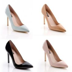 Classy pointy heels! It's best to have one in every color!