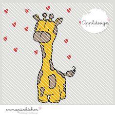 emmapünktchen ® – anton die giraffe applikation