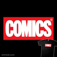 Comics | Shirtoid #comic #comics #film #marvelcomics #monsieurgordon #movie #typographic