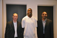 SCC president Chris Lindauer, NBA star Gerald Wallace and Anthony Roberts, president of Uneek Projects back stage at the 4th Annual Jordan Brand Experience event in Beaverton, OR.