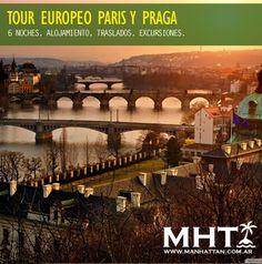 Tour por #Europa, recorriendo Paris, Frankfurt y Praga. Excursiones y visitas.