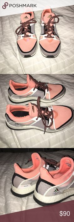 Adidas Training Pure Boost Sneakers Pink size 9.5 .. super comfortable, you barely notice them on your feet. Worn twice Adidas Shoes Sneakers