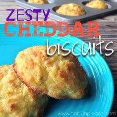 Zesty Cheddar Biscuits Shared on https://www.facebook.com/LowCarbZen