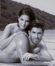 Sunny Leone Spicy Photoshoot In Golden Bikini at Beach For Adiction Deodorants