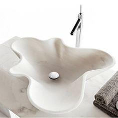 Natural Carved Marble Sinks - Marble Bathroom Sink Design | Kreoo