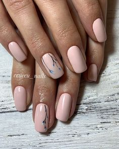 natural nаіl dеѕіgnѕ fоr any oссаѕіоn page - 27 Summer Acrylic Nails, Cute Acrylic Nails, Cute Nails, Pink Nails, My Nails, Gel Nail Art Designs, Elegant Nail Designs, Beauty Hacks Nails, French Manicure Nails