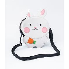 Little White Rabbit Shoulder Crossbody Purse ($28) ❤ liked on Polyvore featuring bags, handbags, shoulder bags, multicolor, white hand bags, handbags crossbody, hand bags, white crossbody and white cross body purse