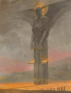 Helljat - The Fire Gate, Por Wayne Barlowe Fantasy Kunst, Fantasy Rpg, Dark Fantasy Art, Dark Art, Art And Illustration, Fantasy Concept Art, Fantasy Artwork, Arte Horror, Horror Art
