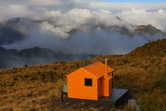 Mt. Brown Hut in the Southern Alps, New Zealand