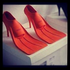 Oh so practical for black tie at the beach. Floaties optional.