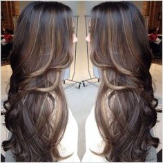 dark brown hair with blonde peekaboo highlights - Google Search