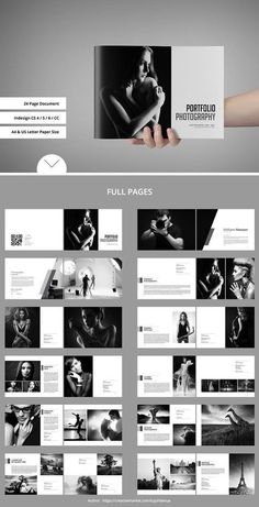 Explore more than brochure design templates to display product features and portfolios. Choose from brochure templates for pamphlets, proposals, reports, and manuals in a variety of styles. Portfolio Design Layouts, Book Design Layout, Album Design, Photography Portfolio Layout, Design Blog, Photo Book Design, Creative Photography, Photography Brochure, Modelo Portfolio
