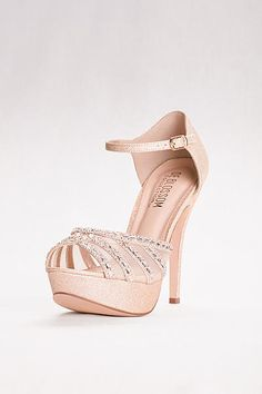 High Heel Platforms with Peep Toe and Mesh Upper VICE-234
