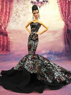 100% Hand Made With High Quality By Eaki. Barbie, Model Muse, Silkstone, Fashion Royalty, Candi, Charice And. Evening wear Fashion Fit For. This item For Fashion Only. My newly designed Fashion, Jewelry and Crown are coming soon. | eBay!