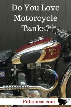 Motorcycle tanks make me drool with happiness - how about you? Here are some of my favorites. Motorcycle Tank, Motorcycle Style, Royal Enfield, Enfield Bike, Old Bikes, Cool Motorcycles, Super Bikes, Secret Obsession, Motor Car