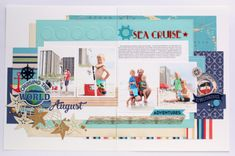 """August Sea Cruise layout by Anya Lunchenko with designer dies and the """"Let's Cruise"""" collection by #CartaBellaPaper"""