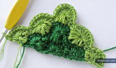 MyPicot | Free crochet patterns/ Catherine's wheel triangular/ free pattern