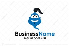 Logo for sale: Simple Genie Logo Simple genie logo which is suitable for online avatar and apps icon. software apps application mascot genie aladdin cartoon fun funny kid children happy smile cheers  logo logos
