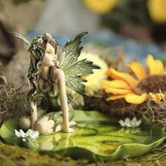 Drifting Lily Pad Garden Fairy