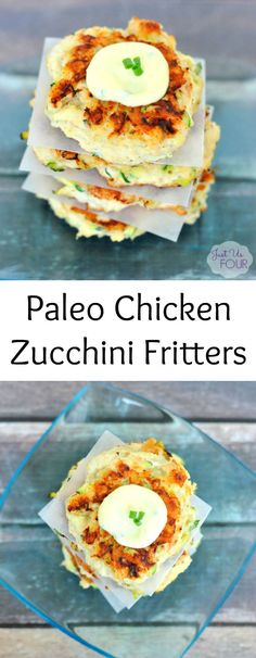 Paleo Chicken Zucchini Fritters - My Suburban Kitchen
