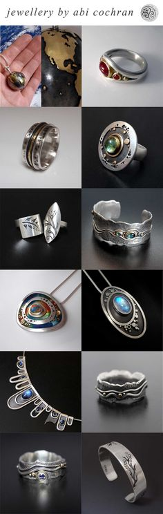 Silverwork by Abi Cochran. Top 12 designs of 2013. Please like/share your favourite on facebook - https://www.facebook.com/silverspirals.co.uk