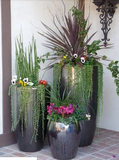 ✔ 38 cheap and easy landscaping ideas for front yard 24 Large Garden Planters, Indoor Plant Pots, Patio Plants, Cool Plants, Outdoor Plants, Garden Pots, Potted Plants, Garden Ideas, Cement Planters