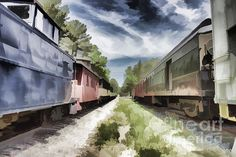 Strolling through a train yard one day, I captured the image between two trains. Thank you for sharing! http://bertsworks.com