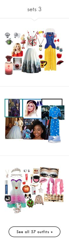 """sets 3"" by traceymarh on Polyvore featuring Disney, Chicwish, Undercover, George, Journee Collection, NOVICA, Zara Taylor, L.K.Bennett, Noir Jewelry and Gucci"