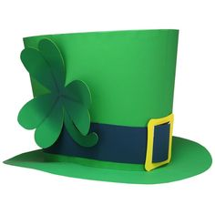 This paper craft is St. Patrick's Hat, designed by Canon Papercraft. March is a holiday called St. Patrick's Day that celebrates Saint Patrick, who sp St Patricks Day Hut, St Patricks Day Crafts For Kids, St Patrick's Day Crafts, Holiday Crafts, Diy Crafts, Chapeau Saint Patrick, Desserts Valentinstag, Leprechaun Hats, Leprechaun Clipart