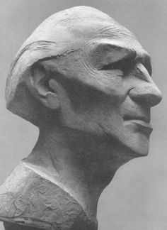 Theo Balden - portrait of Ernest Bush, 1955 Sculpture Head, Abstract Sculpture, Ceramic Figures, Dark Beauty, Gravure, Installation Art, Poses, My Images, Sculpting