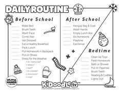Start off the year right with this customizable January Daily Routine printable! Routine Printable, Do Homework, Clean Shoes, Activity Sheets, How To Make Bed, After School, Face Wash, Bedtime, Fun Activities