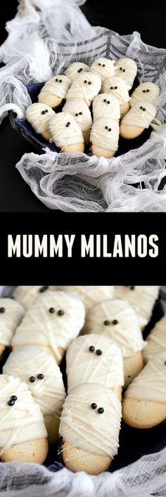 EASIEST 10-minute Halloween treat! Mummy Milanos