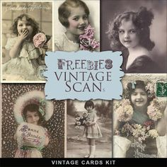 Freebies Vintage Cards Kit