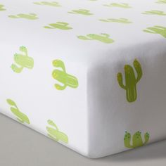 Fitted Crib Sheet Cactus - Cloud Island - White