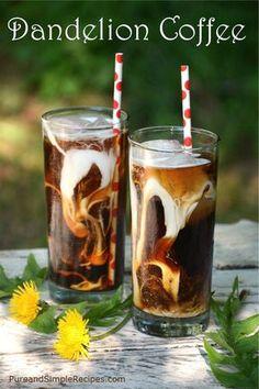 dandelion root tea - Kiss Me Organics / Herbal / Tea: Grocery & Gourmet Food Detox Drinks, Healthy Drinks, Dandelion Root Tea, Dandelion Jelly, Dandelion Recipes, Wild Edibles, Le Diner, Edible Flowers, Vegan Recipes